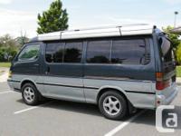 Right hand drive 1993 Toyota Hiace diesel camper van