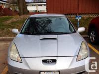 Make. Toyota. Model. Celica. Colour. Silver. Bonjour je