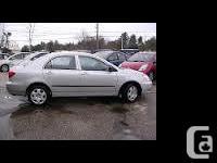 Make Toyota Design Corolla Year 2004 Colour silver kms