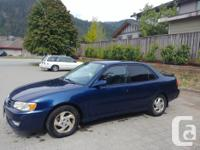 Make Toyota Model Corolla Year 2001 Colour blue kms