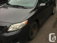 Make Toyota Model Corolla Year 2010 Colour Grey kms