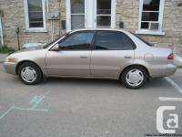 Available for sale 1998 Toyota Corolla, e-tested,