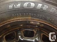 I am selling 2 tires mounted on rims. The rims will