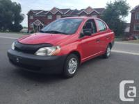 Make Toyota Model Echo Year 2000 Colour Red kms 129000