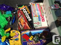 Dozens of toys/games for sale: - Board games (Scrabble,