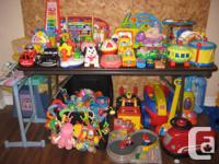 Leap Frog, Bead Maze, Wood blocks, Lamaze, Trucks, Mega