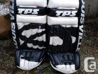"TPS Louisville goalie pads 33"" These pads worked great"