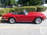 Original 1976 TR6 with Overdrive. No corrosion and also