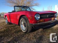 Make Triumph Model TR6 Year 1971 Colour Red kms 89990
