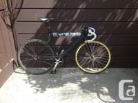 Leader 725 55cm Track frame 3T funda complete carbon
