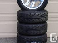4 - Michelin P205/55/R16 Hydro Side all season tires as