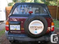 Make Chevrolet Model Tracker Year 2002 Colour Burgandy