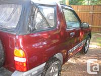 Make Chevrolet Model Tracker Year 2002 Colour Red kms