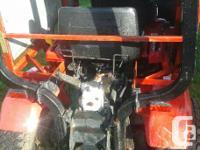 for sale a Honda tractor model 5013 it is 4wheel