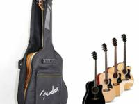 . A cushioned Fender gig bag available for sale.  For