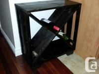 This handmade as well as rustic-looking wine cellar can