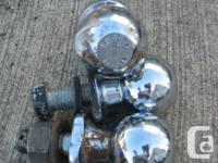 """Trailer hitch ball Various sizes 2"""" 1 7/8"""" $5 to $8"""