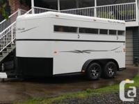 Your new 2 horse trailer awaits, could fit 3 horses.