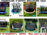 THESE TRAMPOLINES ARE REAL SAFE ,WILL LAST LONGER & AND