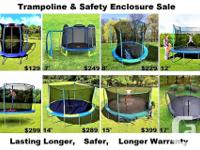 "New Trampoline & Enclosure sale (55"") $129 (7') $249"