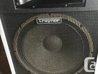 "Two vintage Traynor CS 105H 15 "" 100 Watt 8 ohm"