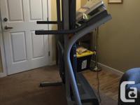 Nordictrack C2200 treadmill. Spacesaving carpet fold