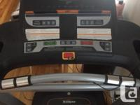 Tempo fitness treadmill. Foldable for easy storage.