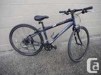 Trek 7.6 FX lightweight hybrid bike with a carbon fork.