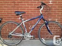 his n hers trek mutitrak 7300 blue hybrids front shocks