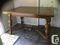 excellent condition. dark stained. wood. can beused as