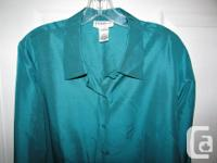 STUNNING high quality 100% silk blouse tunic. Size 14.