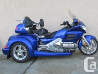 This is a 2005 Honda GL1800 Goldwing the queen of the
