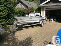2005 Triumph 15 foot Center Console compact fishing