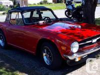Make Triumph Model TR6 Year 1976 Colour Red Trans