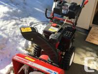 Troy-Bilt Vortex 357cc 3-Stage Snowblower. List of