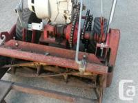 "20"" tru-cut reel mower for parts or repair. Been"