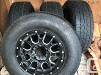 Selling a full set of tires and rims off my Chevy