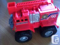 This is a selection of large trucks that my kids have