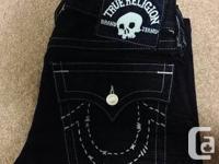 +True Religion size 31 waist hemmed to 31. 9.5/10