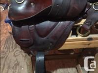 Tucker saddle super comfy, large tree 8 inches,