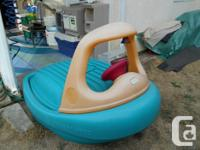 LITTLE TYKES TUG BOAT SAND BOX WITH LID & SAND $ 60.00