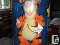 Press on Tigger's head and he bounces and speaks. New