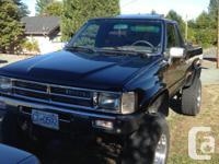 Make Toyota Model Tacoma Year 1986 Colour black kms