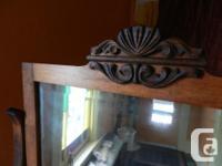 turn of the century, solid wood, 4 drawer dresser. in