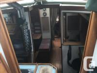 Warm cozy pilothouse with aft cabin. Fully lined in