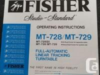 VINTAGE FISHER (80'S) FULL-AUTOMATIC LINEAR TRACKING