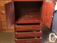 Solid wood frame, like new. Hole for wires in the back,
