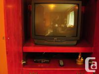 TV CABINET& ENTERTAINMENT CABINET WITH STORAGE. Red