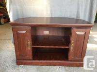 Corner TV Stand and separate media cabinet. These are