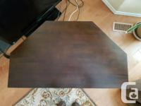 """Solid TV or corner table measures 39 x 22"""" overall but"""